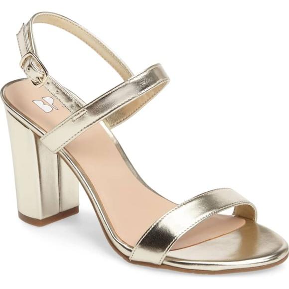 bp Shoes - BP. Lula Block Heel Slingback Sandal Gold
